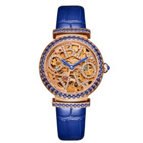 OBLVLO BW Ladies Skeleton Diamond Rose Gold  Automatic Watch BW-PL