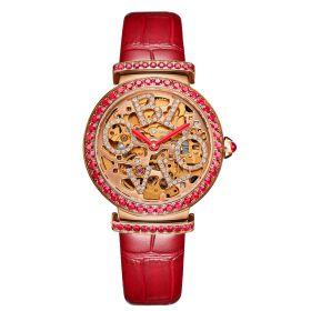 OBLVLO BW Ladies Skeleton Diamond Rose Gold  Automatic Watch BW-PR