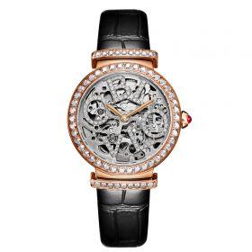 OBLVLO BW Ladies Skeleton Diamond Rose Gold  Automatic Watch BW-PWB