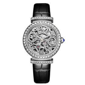 OBLVLO BW Ladies Skeleton Diamond Rose Gold  Automatic Watch BW-Y