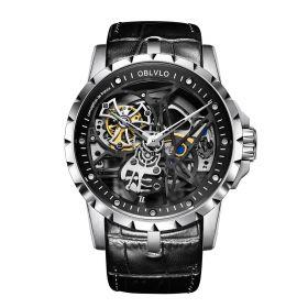 OBLVLO RM-S Men's Skeleton Tourbillon Automatic Steel Watch RM-S-YBB