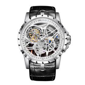 OBLVLO RM-S Men's Skeleton Tourbillon Automatic Steel Watch RM-S-YWB
