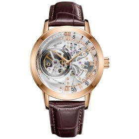 OBLVLO Tourbillon Skeleton Automatic Rose Gold Watch for Men VM-PWW