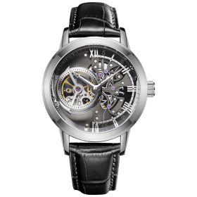 OBLVLO Tourbillon Skeleton Automatic Steel Watch for Men VM-YBB
