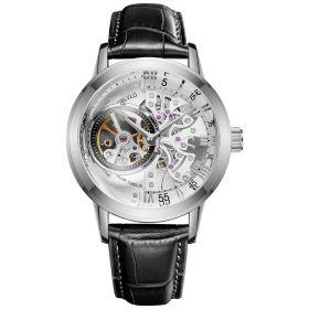 OBLVLO Tourbillon Skeleton Automatic Steel Watch for Men VM-YWB