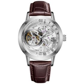 OBLVLO Tourbillon Skeleton Automatic Steel Watch for Men VM-YWW